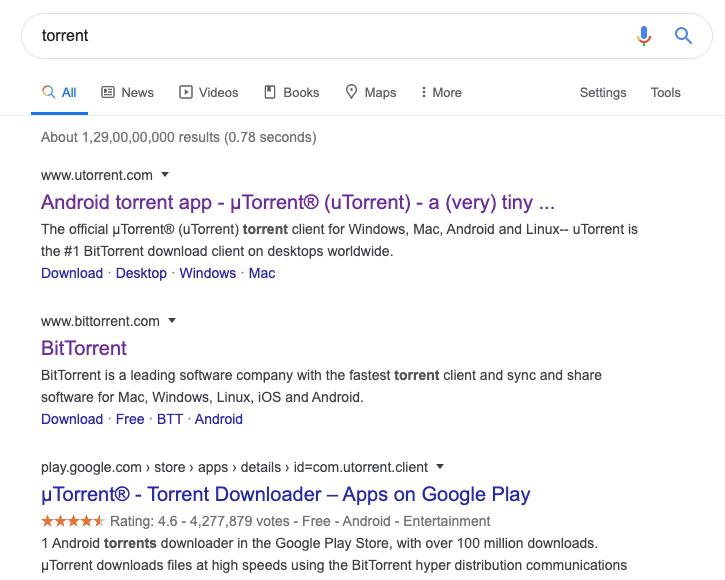 Go to google and search for the Torrent