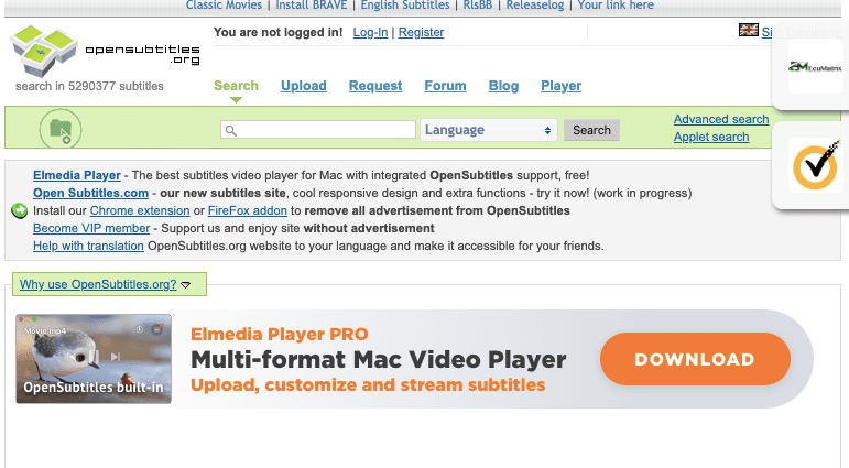 """How To Create A """"Open Subtitles"""" Account"""