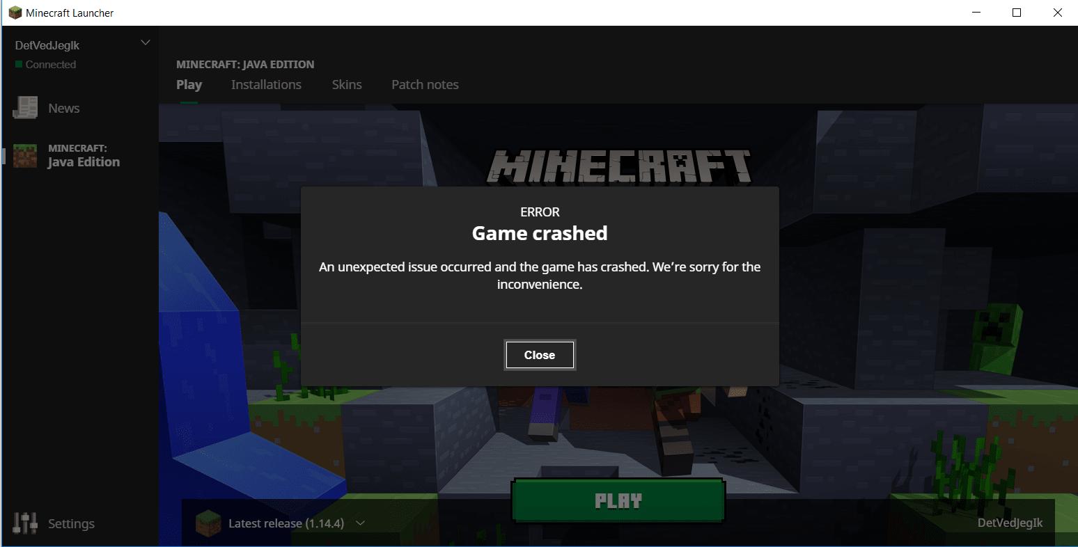 minecraft keep crashing, here is fix
