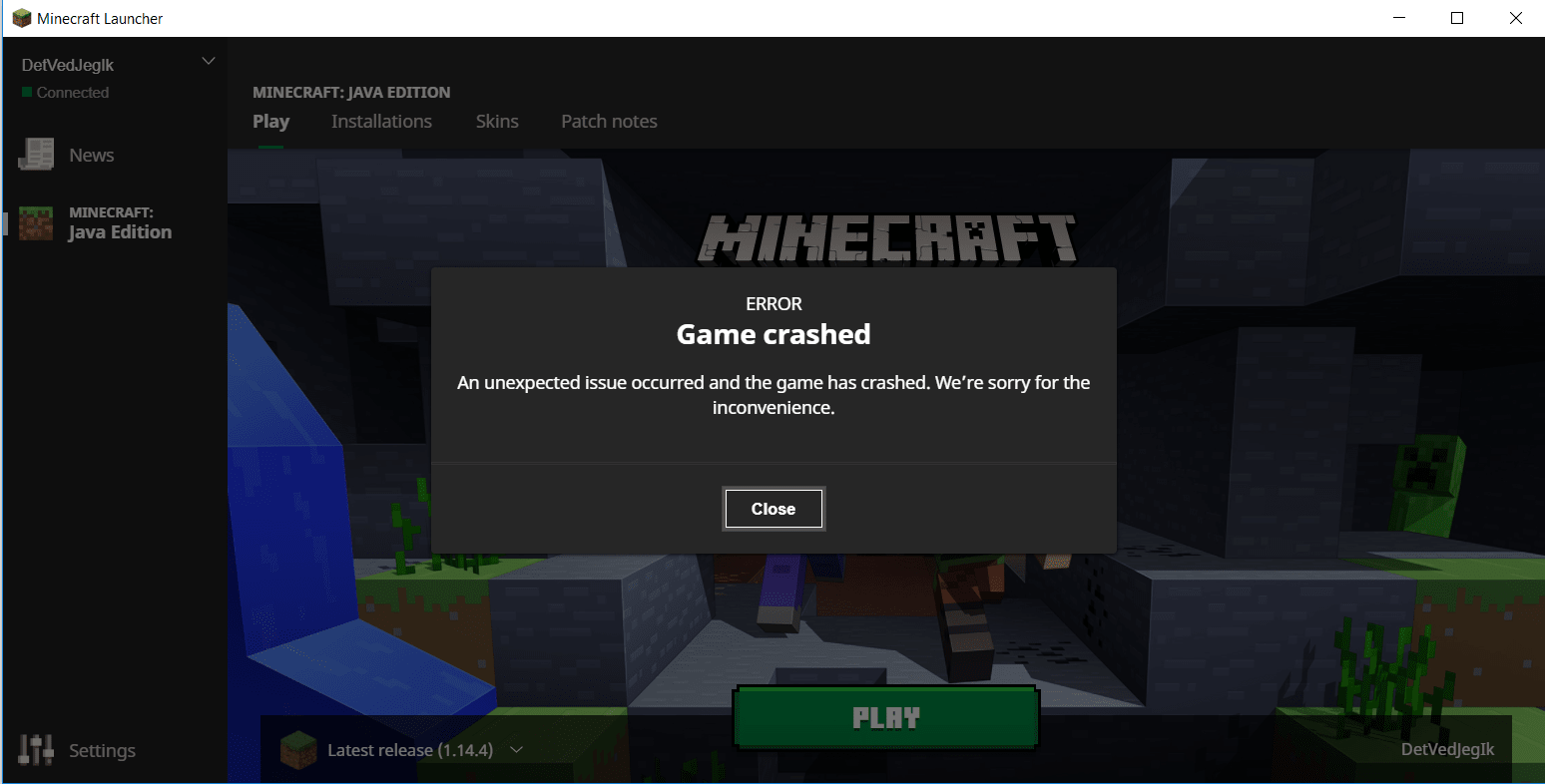 minecraft keep crashing, here is fix