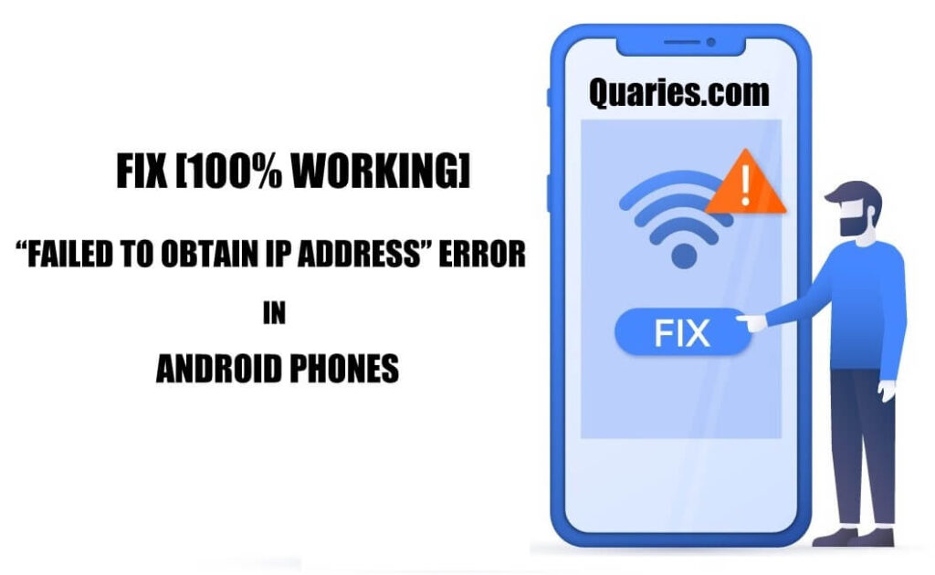 How to fix Failed to obtain IP Address error in Android phones