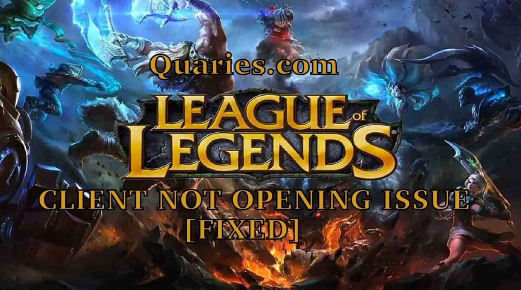 League of legends not opening issue Solved