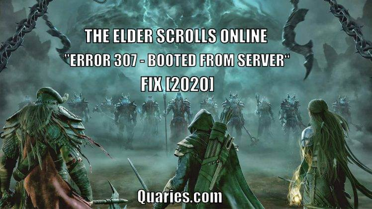 Fix ESO Error 307 - Booted from server