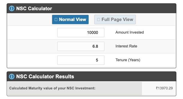 NSC Calculator By Icalculator