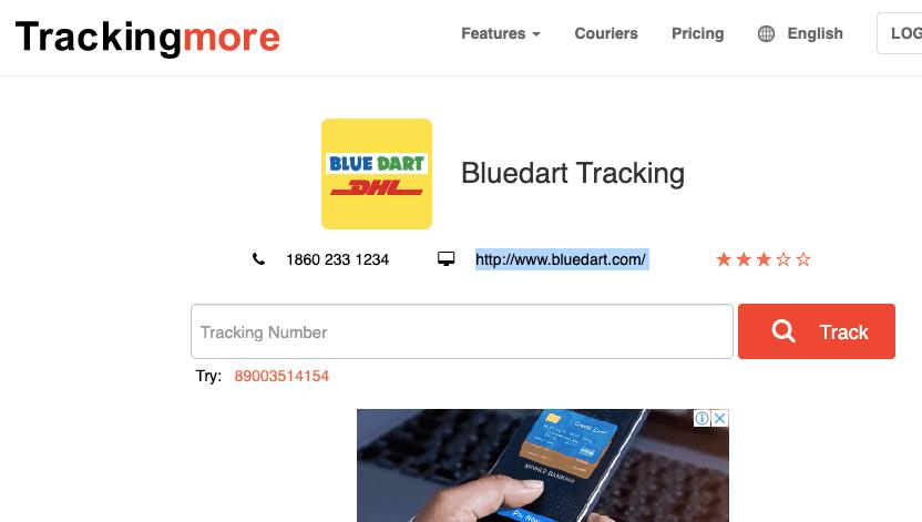 Bluedart Tracking