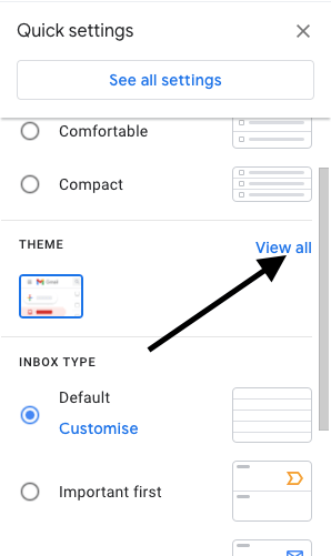 Select Theme In Gmail