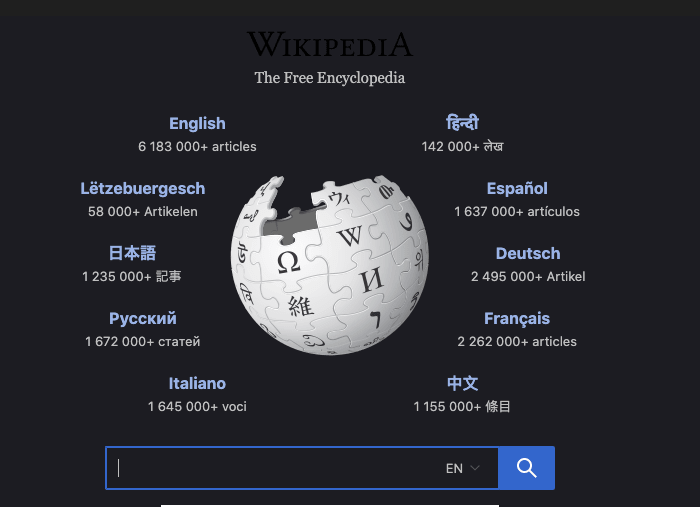 Wikipedia Dark Mode In Desktop Web Browser