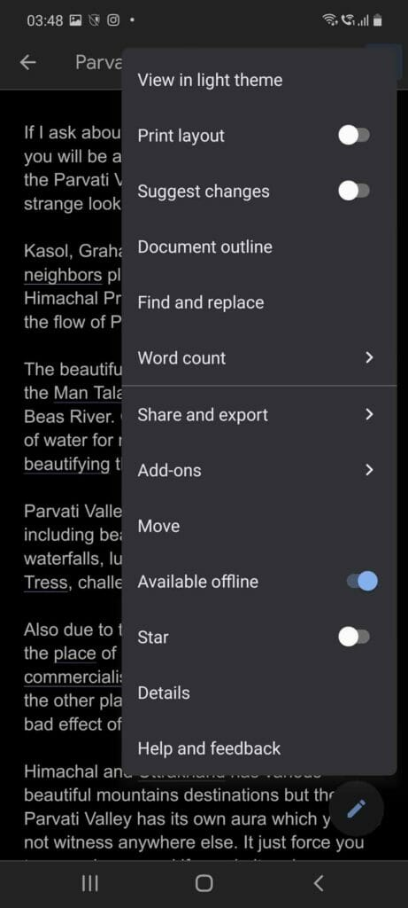How To Preview A Document Or Sheet In Light Theme