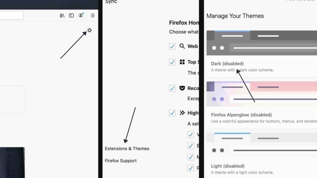 Firefox Dark Mode For Web Browser