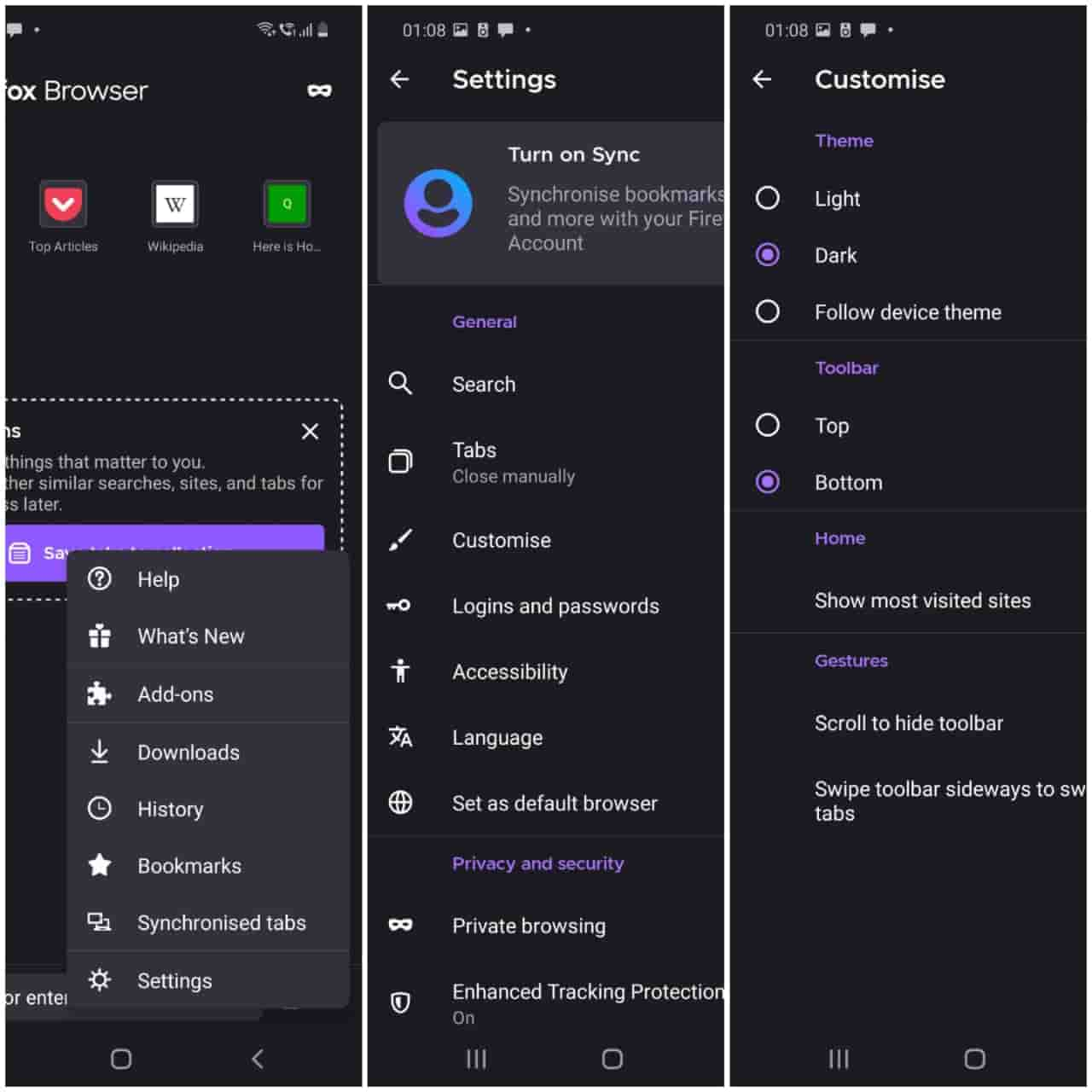 Firefox Dark Mode For Android