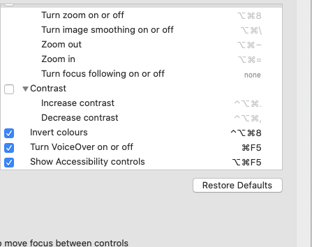 Trick the Invert Colours, and copy shortcut