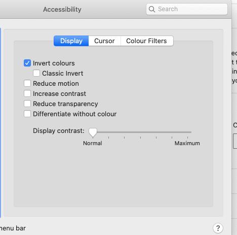 Tick the Invert Color Option