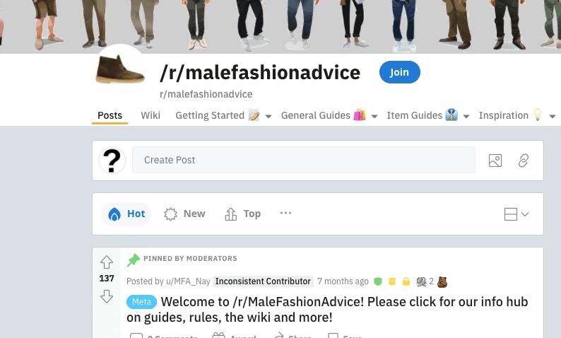 /R/Malefashionadvice
