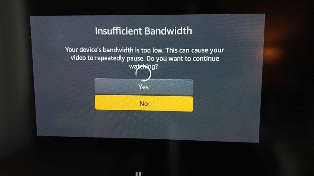 How To Fix Insufficient Bandwidth Error On Amazon Prime Video?