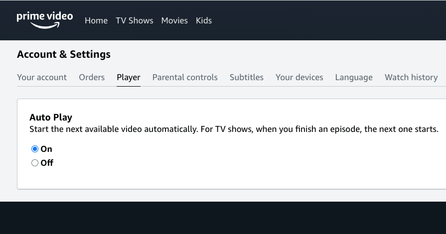 """How To """"Stop/Turn Off"""" Autoplay On Amazon Prime Video"""