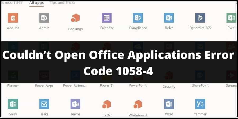 Microsoft Office Error Code 1058-4